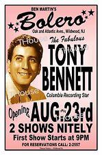 TONY BENNETT 1957 BOLERO NIGHT CLUB Wildwood NJ ART Rendition Poster THouse 2015