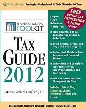 Toolkit Tax Guide 2012 (Business Owner's Toolkit series)-ExLibrary