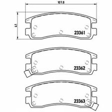 BREMBO Brake Pad Set, disc brake P 59 027