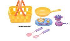 7pc Bambini Mini Cucina Cena Pranzo Playset con Cestino Play Set Cena cucina