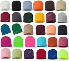 12 Sportsman 8 Inch Knit Beanie Cap Hat SP08 Winter Ski WHOLESALE 30 COLORS!