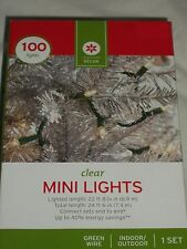 100 Clear Mini Christmas Lights Green Wire Wedding Indoor Outdoor Party Steady