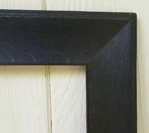 c1900 Large Dark Fumed Quarter Sawn Tiger Oak Mission Arts Crafts 20 x 31 Frame