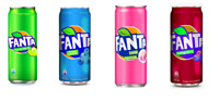 NEW RARE FANTA - 4x320ML - ASIAN CANS EXOTIC - SARSI LYCHEE BLUEBERRY EXOTIC POP