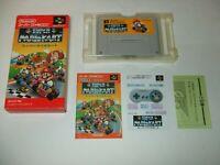 Super Mario Kart boxed with Manual A Nintendo Super Famicom SFC Japan import