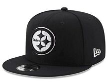 Pittsburgh Steelers New Era 9Fifty Black White Logo Adjustable Snapback Hat NFL