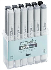 Copic Classic Marker - 12 Cool Grey Set - Refillable With Copic Various Inks