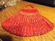 Red beaded vintage purse
