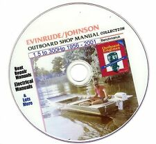 Johnson / Evinrude Outboard Service Manual Huge Collection on DVD 1956 - 2001