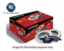 FOR SAAB 9-3 2.0 AERO TURBO 2002->on FRONT BRAKE DISCS and PADS SET with SENSORS