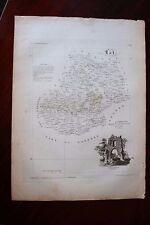 ✒ CARTE ca1830 département LOT Cahors Gourdon Figeac