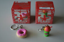 (2 Pack) The Simpsons: 25th Anniversary - Keychains - Donut & Squishee --NEW