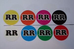 """16 x   CROWN GREEN STICKERS  1""""  YOUR INITIALS LAWN BOWLS  & INDOOR BOWLS GLOSSY"""