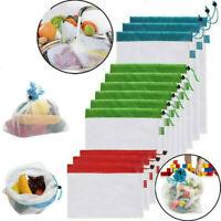 Reusable Grocery Shopping Bag Vegetable Fruit Mesh Washable String Simple HOT