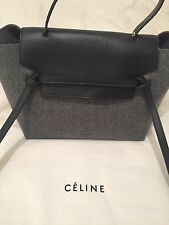 Genuine Celine Small Belt Bag. With Tags.Winter 2014 Black&Gray. Great Condition