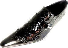 ORIGINAL CHELSY KROKO LACK LEDER SCHUH ITALIENISCHER DESIGNER BUDAPESTER SLIPPER