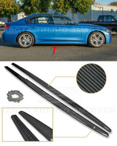 For 12-18 BMW 3-Series F30 F31 M-Sport Side Skirts CARBON FIBER Panel Extensions