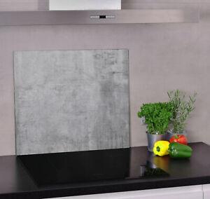 Glas Herdabdeckplatte für Küche Herdabdeckung Beton, Fussboden, Betonfussboden