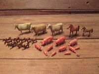 Vintage Lot Farm Animal Horses, Cows, Pigs