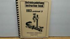 EMCO Unimat 3 Operating Instructions & Parts Manual