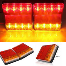 4X 8 LED Stop Brake Rear Tail Light Indicator Reverse Lamp 12V Trailer Truck RV