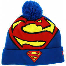 Superman DC Comics Woven Character Biggie New Era Knit Hat Cap Beanie OSFA Men's