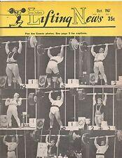 IronMan Lifting News Weightlifting Bodybuilding Magazine/Pan Am Games Oct 1967