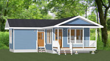 16x30 Tiny House -- 705 sq ft -- PDF Floor Plan -- Model 3D