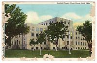 Vintage Postcard Garfield County Court House Enid Oklahoma  J21A