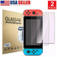 Screen Protector Tempered For Nintendo Switch Glass HD Clear Anti-Scratch 2 Pack