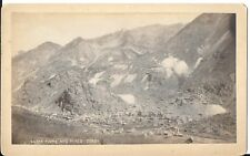 Alex Martin Cabinet Photo of Silver Plume Colorado and Mines c1870s