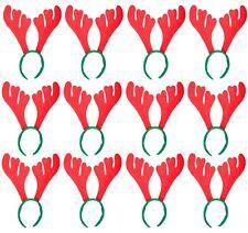 12 X Cuernos Reno Diadema Fiesta Navidad Sombrero Novedad Santa Regalo de