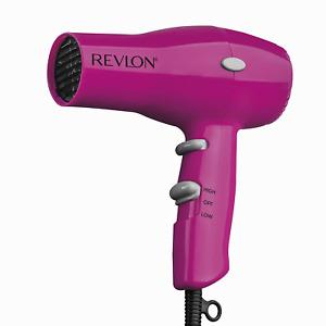 REVLON 1875W Lightweight Hair Blow Dryer Blower Compact Travel Hair Dryer Pink