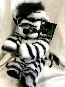 ZARA the Zebra Bear ZebraBear BearAnimal Plush Vermont Teddy Bear Collection NEW