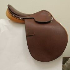 NEW Campbell Saddle English Close Contact Dark Brown Leather 16 W