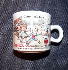 Ceramic Campbells Kids Soup Mug Cup Replica 1910 postcard one side 1994 Campbell