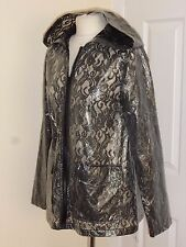 ME JANE New York Fashion PVC / Plastic Hooded Jacket / Rain Coat Mac UK 10 EU M