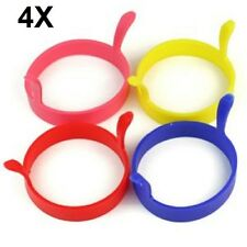 4 Kitchen Silicone Round Circle Fried Egg Shaper Ring Poacher Mold PANCAKE MOULD