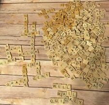 495 Scrabble Tiles Wood Letters Crafting Art Supply