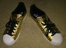 Adidas Superstar Shell Toe Athletic Trainer Gold Sneakers Shoes Men's Size 9.5