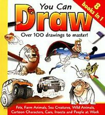 You Can Draw : Over 100 drawings to master. (8 Books in 1) by Damien Toll Book