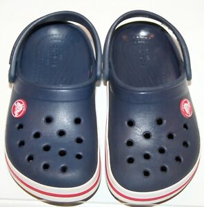 CROCS size 9 Toddler / child Crocsband Navy