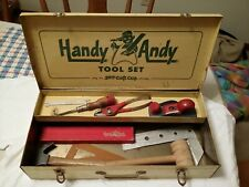 VINTAGE HANDY ANDY TOOL SET WITH ( TOOL BOX & AND TOOL'S )