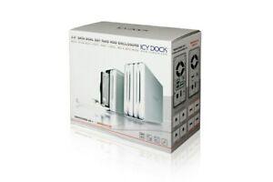 """ICY DOCK """"3.5 SATA DUAL BAY RAID HDD ENCLOSURE - NEW IN BOX"""