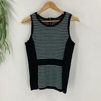 White House Black Market Womens Sleeveless Stripe Knit Tank Top Size M Medium