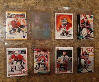 (8) Ed Belfour 1990-91 Upper Score 1992 Bowman Rookie card lot HOF RC Blackhawks