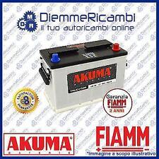BATTERIA CAMION TRATTORE CAMPER AKUMA = FIAMM 100 AH 12V 720A EN ORIGINALE NUOVA