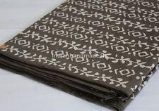 10 Yard Hand Block Print Cotton Fabric Flower Printed 100% Soft Cotton Fabric 07