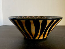 Safari Themed glazd Bowl Made And Signed In Africa