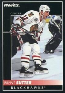 #39 Brent Sutter - Chicago Blackhawks - 1992-93 Pinnacle Canadian Hockey